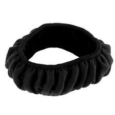 Wool Plush Car Steering Wheel Cover Woolen Car Handbrake Accessory Black