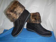 Monroe&main Snap Top Black Women's Winter Boots, 11W, #681445, New in box