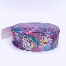 "Galactic Unicorn 1.5"" 38mm Grosgrain Ribbon per metre meter"