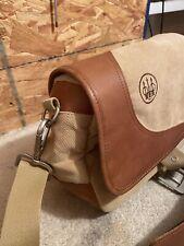 Beretta B1 Cartridge Bag Tan Canvas/Leather