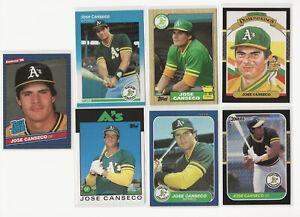 Jose Canseco Rookie Lot 1986 Donruss Topps Fleer 1987 High Grade!!