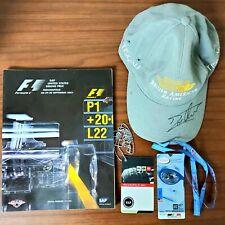 Formula 1 Indianapolis USGP 2001 Jacques Villeneuve autograph