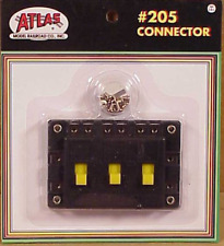 Atlas #205 Connector - 3 single pole, single throw (on-off) switches - Ho,N,O