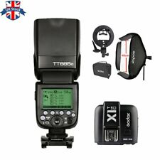 UK Godox TT685C 2.4G HSS TTL Camera Flash+X1T-C for Canon+40*40CM Softbox Kit