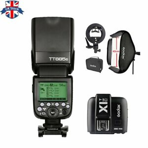 UK Godox TT685C 2.4G HSS TTL Camera Flash+X1T-C for Canon+40*40CM Softbox Kit