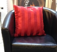 Red Satin Stripe Evans Lichfield Cushion Cover