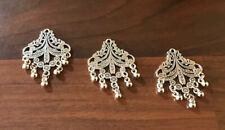 Antique  Silver Large Buttons/ Charms/ 3 Pcs/ Jewellery Making