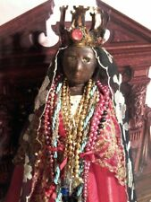 "XL VINTAGE BLACK MADONNA OF GYPSIES [SARA ""LA KALI""] PRIESTS CHURCH STATUE"