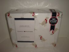 Tommy Hilfiger Dogs Flannel Full Sheet Set Nip Labrador Retriever Dog Lab