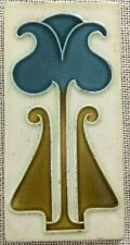 Collectible rare art England majolica vintage border tiles antique nouveau 1900