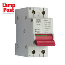 MK 100 Amp Main Switch Disconnector 100a Double Pole Sentry 5500S