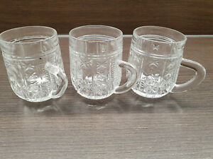 USSR VINTAGE CRYSTAL GLASS CUPS SOVIET 3 UNITS