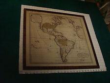 original 1740-1760 Le Nouveau Continent ou L'Amerique, Henry De Leth, framed