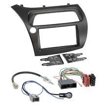 Honda Civic 8 06-12 2-DIN Autoradio Einbauset Adapter Kabel Radioblende