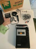 Vintage Cassette Corder Sony TC-207 In Working Condition 1970s Collectible