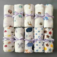 Soft 100% Cotton Muslin Swaddle Squares Blanket Baby Parisarc Wrap Large Towels