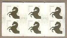 Canada Postage Scott #2701a BOOKLET PANE OF 6 YEAR OF THE HORSE