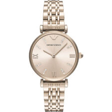 Emporio Armani Ladies Stainless Steel Rose Gold Tone Watch AR11059