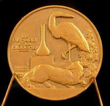 Médaille Fable Le Renard et la Cigogne Jean de La Fontaine Léopold Bellan medal