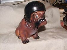 Scarce VINTAGE 1970s Mack Truck Bulldog Hard Plastic Still Dog Bank Premium