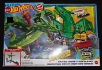 Hot Wheels City Air Attack Robo Dragon Play Set Motorized With Different Sounds
