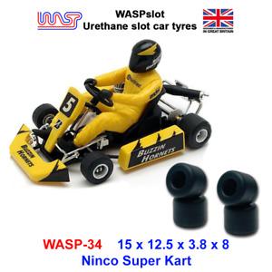 Urethane Slot Car Tyres - WASP 34 - Ninco Super Kart