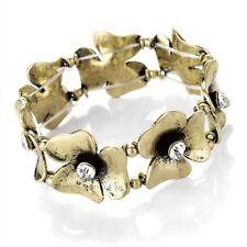 BRUNITA FIORE Color Oro Brillante TESTE Design Braccialetto con cristalli