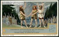 Switzerland Legend Oath Of The Rutli History 1930s Trade Ad Card