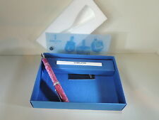 Delta Dreidel Marble Pink Fountain Pen Full Version 14K Broad Nib Rare Mint