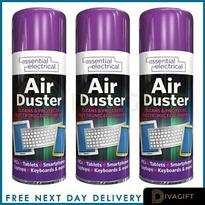 200ml 400ml Compressed Air Can Duster Spray Protects Cleaner Laptops Keyboards