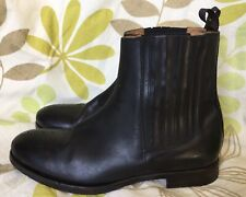 PAUL SMITH MENS BLACK LEATHER ANKLE CHELSEA BOOTS SIZE 8 UK 41 EUR