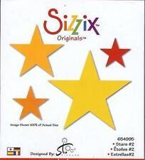 Sizzix Originals STARS #2 RETIRED! VERY HARD TO FIND!  654995 4 SIZES!!!