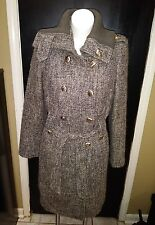 CALVIN KLEIN WOMENS DOUBLE BREASTED LONG WOOL WINTER COAT size 6