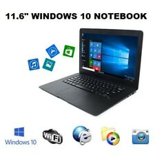 "11.6"" Inch Windows 10 Win Black Mini PC Notebook Netbook Laptop WIFI Computer"
