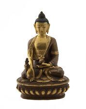 STATUE TIBETAINE BOUDDHA MEDECINE RATNASAMBHAVA CUIVRE  NEPAL  BUDDHA  AFR9-8713