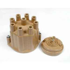 ALC Distributor Cap and Rotor Kit 8120; Points (Socket) Tan for 57-74 Chevy, GM