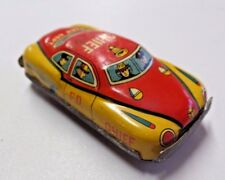 """Vintage Tin Friction Fire Dept Chief Toy Car Approx 3 1/8"""" Long"""