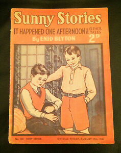 ENID BLYTON SUNNY STORIES  IT HAPPENED ONE AFTERNOON NO. 463 1949 RARE MAGAZINE