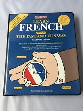 Barron's Learn French The Fast and Fun Way Audio Cassette Tapes kit