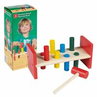 10pc Kids Toddlers Play Hammer Pound A Peg Wooden Bench Game Toy Set Activity