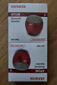 Aiwa ATOM Bluetooth Speaker Pair x2 Red … Sealed