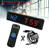 Programmable Interval Timer Clock Stopwatch Sports For Fitness Gym Tabata Yoga