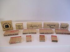 Wooden Rubber Stamps Lot Of 13 Inkadinkado Dawn Houser 93560 4 of 4 - Crafts