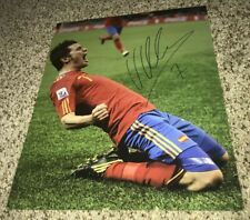 David Villa Signed 11x14 Photo Spain With Proof
