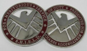 • SHIELD • FOR MERITORIOUS SERVICE • CHALLENGE COIN • MARVEL • AGENTS • 1/100 •