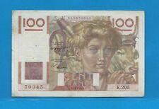 Billet 100 FRANCS  Jeune Paysan 17-7-1947  K.205