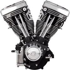 """New Black & Chrome S&S 111"""" V111 Evolution Evo Long Block Motor Engine Harley"""