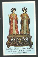 estampa de San Cosme y Damian santino holy card image pieuse