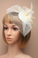 Large Cream Beak Clip Hat Fascinator Weddings Ladies Day Race Royal Ascot 20