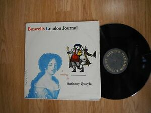BOSWELL'S LONDON JOURNAL READ BY ANTHONY QUAYLE VERY RARE LP CAEDMON 1961